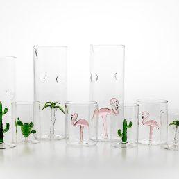 Flamingo Set of 4 Glasses C110