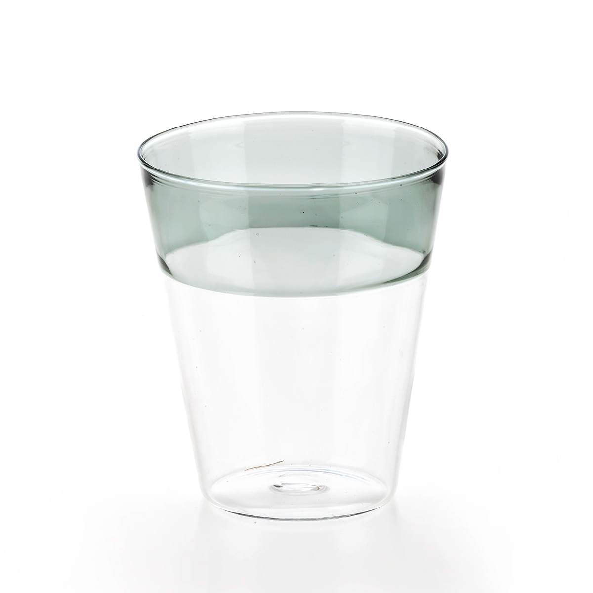 Set of 6 Roma clear and grey glasses C34