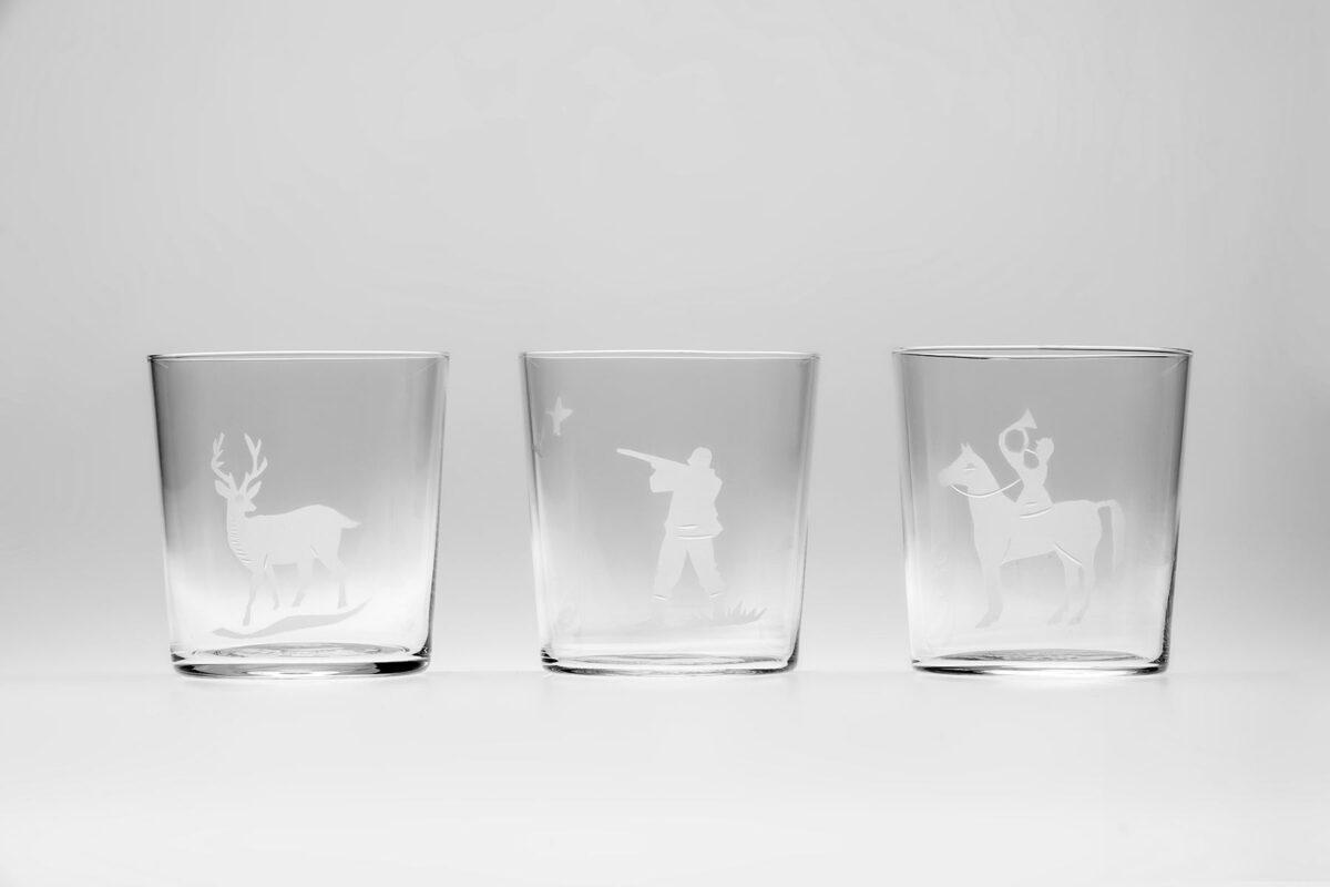 Engraved Hunt glasses CEgH