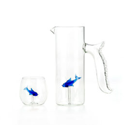 Set of 4 little fish Glasses, rounded shape C91