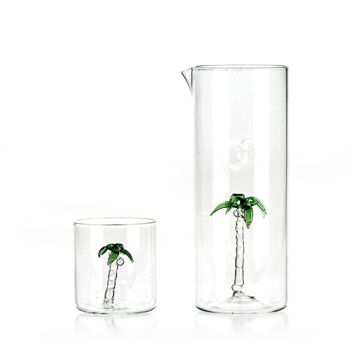 Palm Set of jug and 4 glasses C96 C97