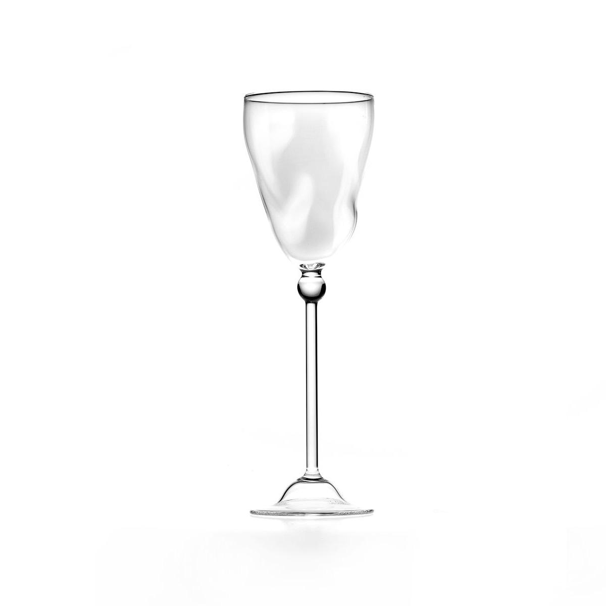 Twisted wine glass C17
