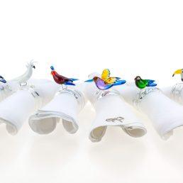 Tropical Birds napkin rings C137 set