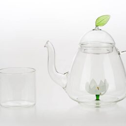 lotus tea pot and tea cup