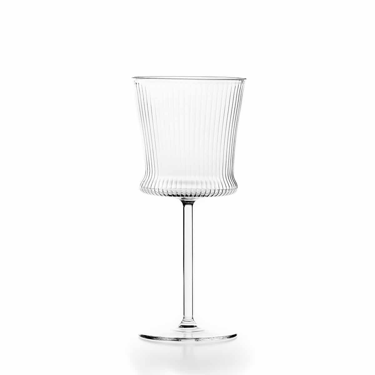 Set of 6 striped Wine Glasses C124