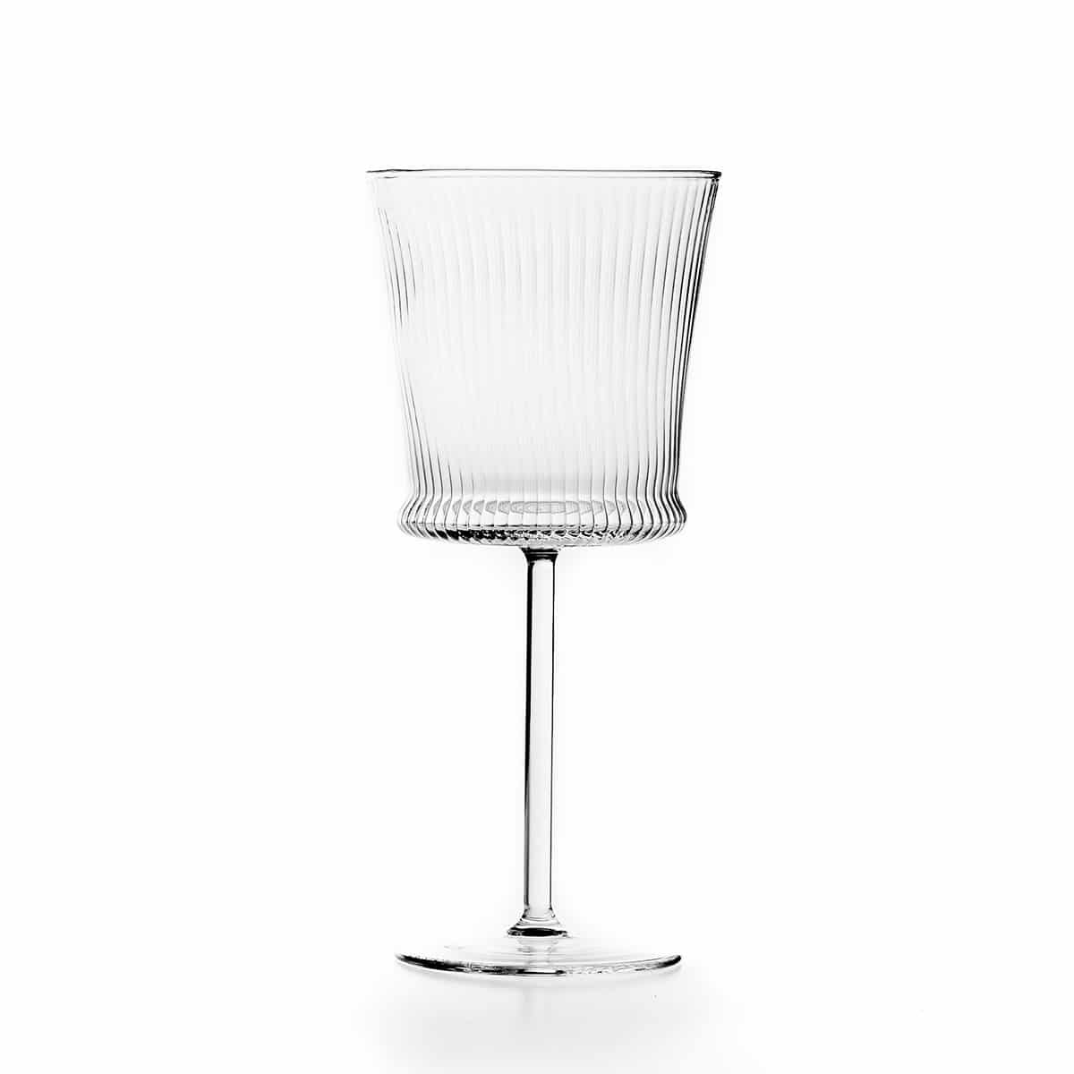 Set of 6 striped Wine Glass C125