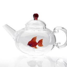 casarialto c153 fish teapot red 1