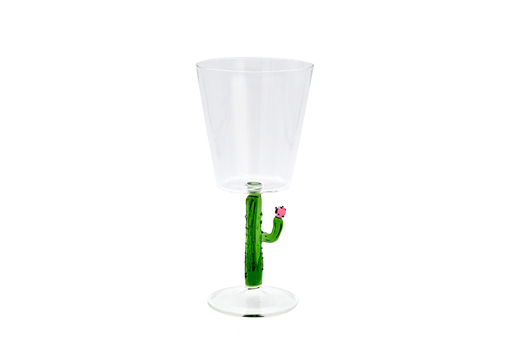 casarialto c159 green cactus mania wine glass green