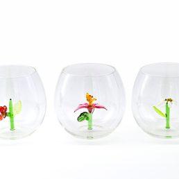 casarialto c160 flower power glasses group of 3